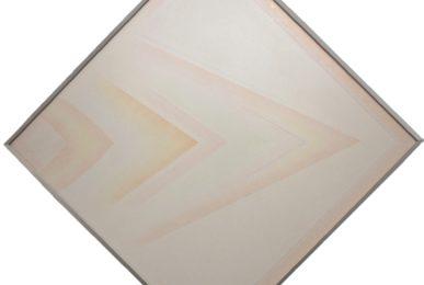 Riccardo Guarneri, Hard edge (Rosso con curva),1971, tecnica mista su tela, diagonale 136cm, Galleria Antonio Battaglia,Milano,Jpg