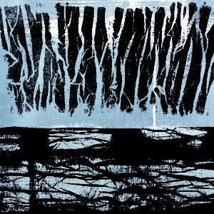 Enzo Rovella, Landscape, 2009, tecnica mista su tela, 92 x 92 cm