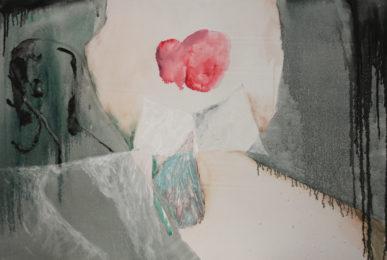 Mario Raciti, Presenze Assenze,1980, tecnica mista su tela,70 x 100 cm