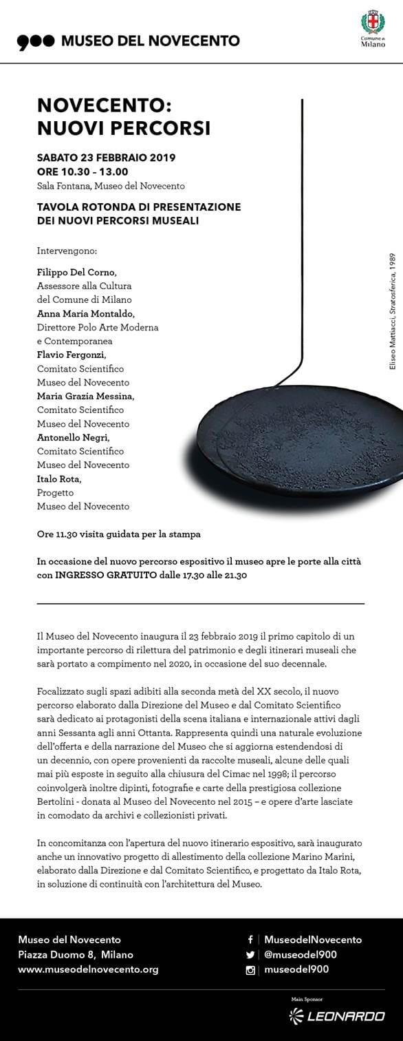 Invito Museo del Novecento