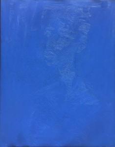Elay, Ritratto blu, 2020