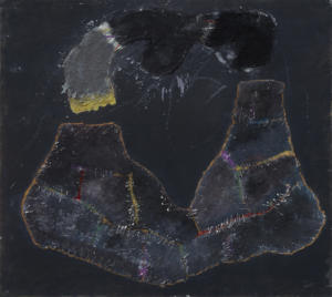 Gianni Madella, Senza titolo, 1972, olio su tela, 90 x 100 cm. Foto di Paolo Vandrasch