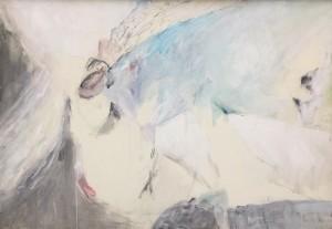 Mario Raciti, Mitologia, 1988, tecnica mista su carta intelaiata, 70x100 cm