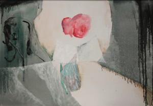 Mario Raciti, Presenze Assenze, 1980, tecnica mista su tela,70x100 cm