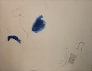 Mario Raciti, Presenze-Assenze,1970, tecnica mista su tela, 70x90 cm