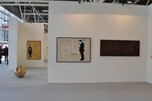 Stand Galleria Antonio Battaglia-Il Castello | Arte Fiera 2016 | opere di Marrocco, Spoldi, Filomeni